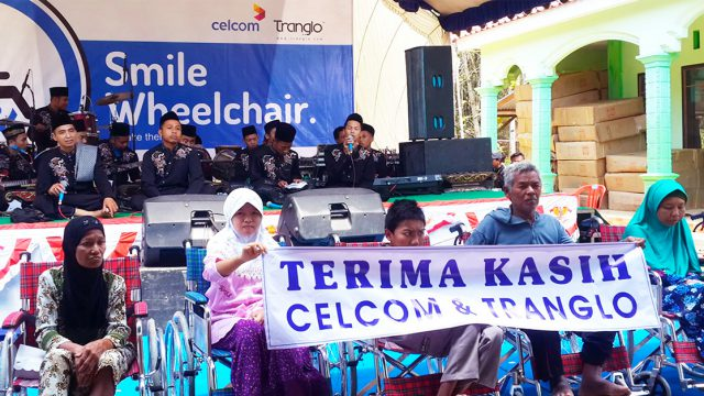 Wheelchairs Giveaway from Tranglo, Dompet Dhuafa and Celcom